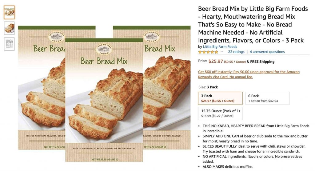 Example of well-written title for bread mix