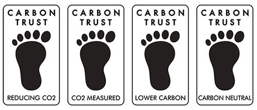 carbon trust label showing their four classifications