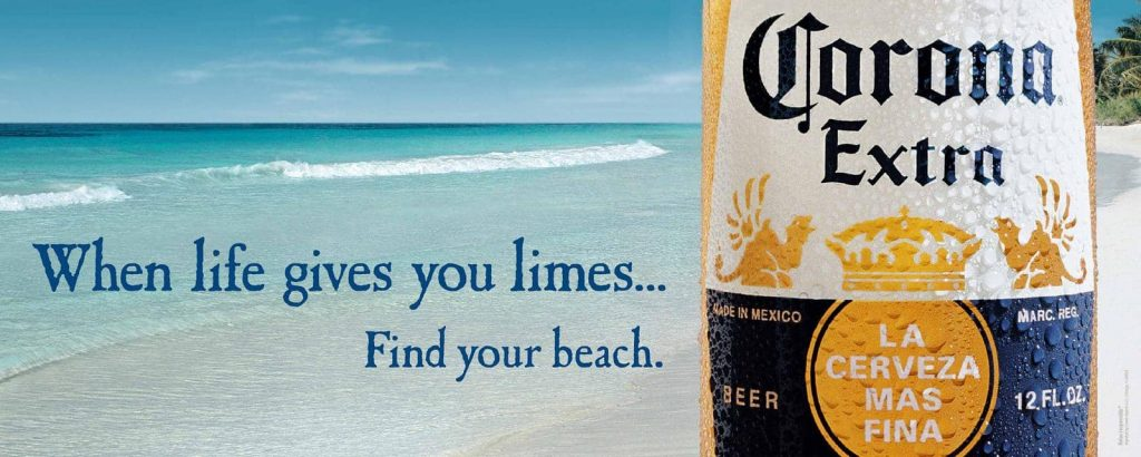 Find your beach corona beer example of future pacing