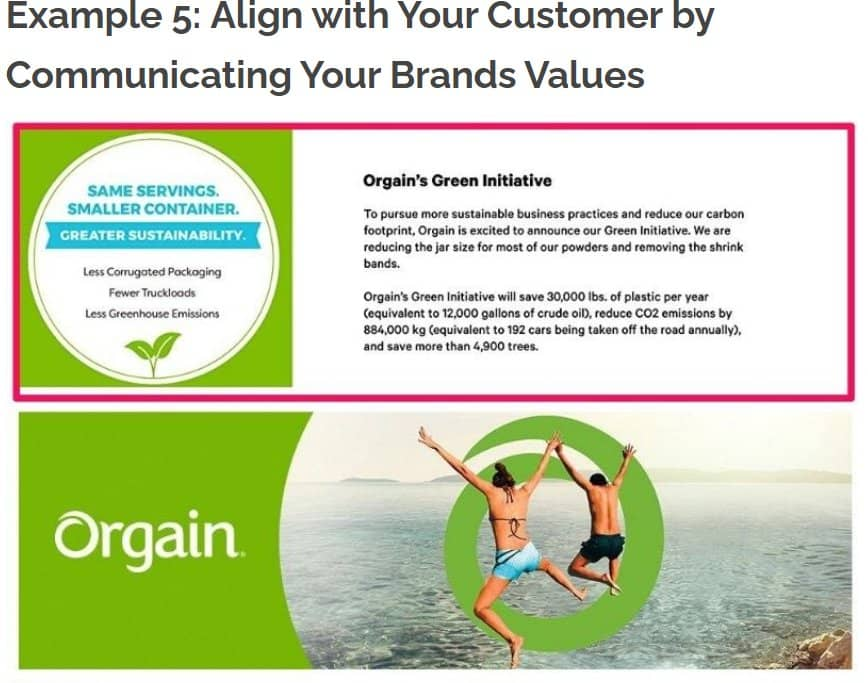 Aligning customers' values