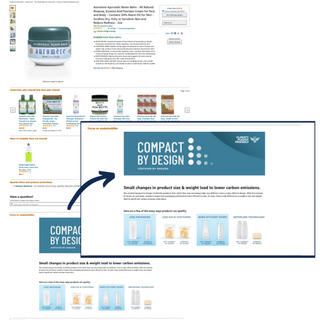 compact by design integration product detail page