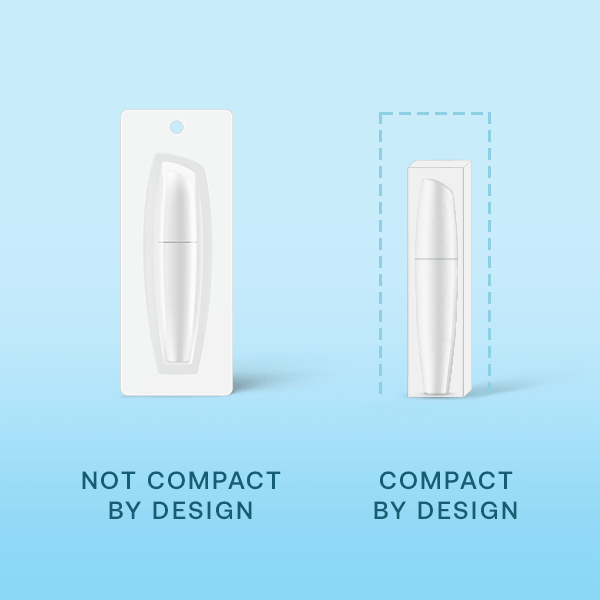 compact by design less packaging