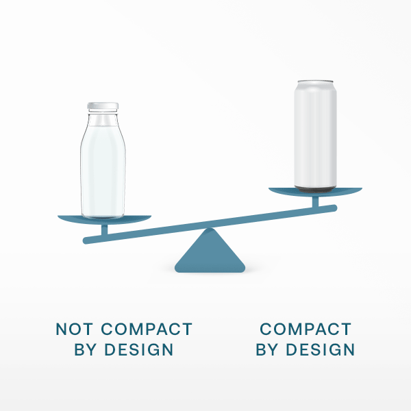 compact by design less weight