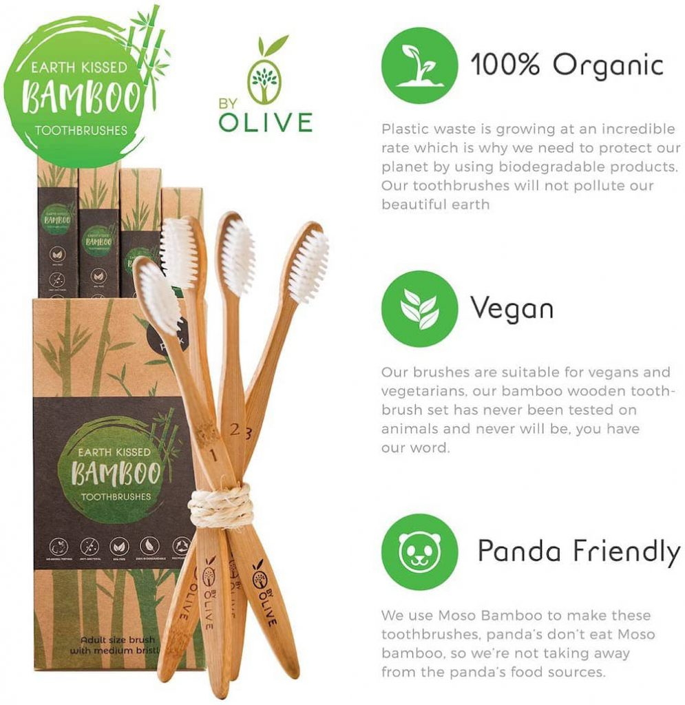 earth kissed bamboo toothbrushes example amazon infographic